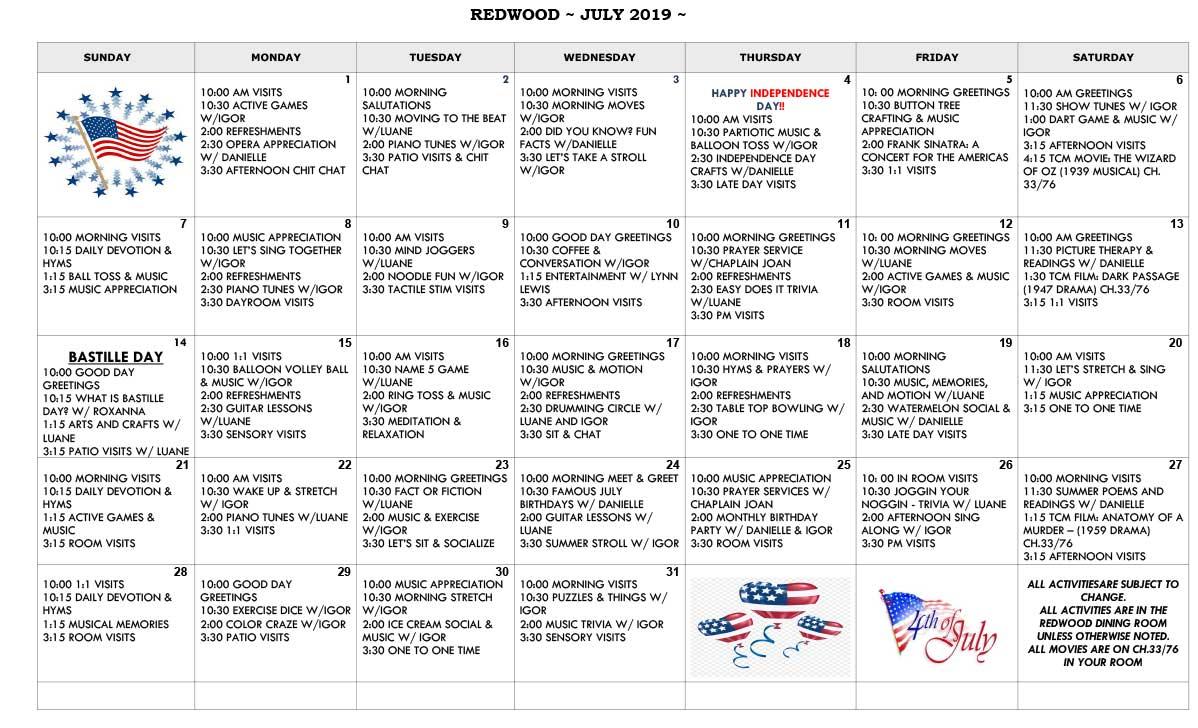July-Redwood