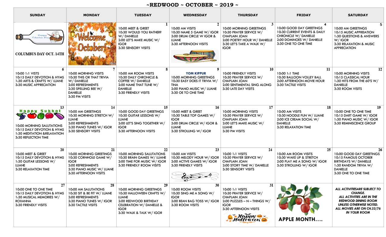 REDWOOD-CALENDAR-OCTOBER-2019-2